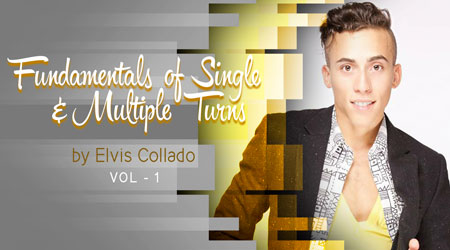Fundamentals of Single & Multiple Turns online salsa course by Elvis Collado